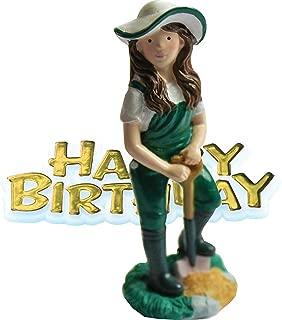 female gardener cake topper