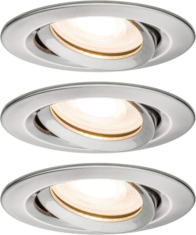 LED Einbauspot  einbaustrahler Einbauleuchten Weiß Rahmen aus Gusseisen GU10