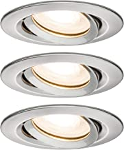 Paulmann 92900 inbouwlamp LED Nova inbouwspot ronde spot IP65 straalwaterdicht 7W 3-delig complete set incl GU10 lamp ijze...
