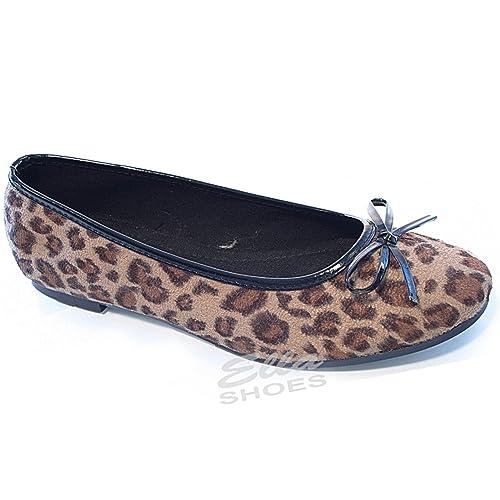 5e19e7756755 Foster Footwear Ladies Faux Leather Slip On Bow Flat Dolly Ballet Pumps  Ballerina Office Work School