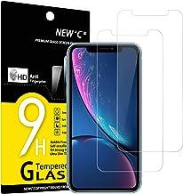 """NEW'C Lot de 2, Verre Trempé Compatible avec iPhone 11 et iPhone XR (6.1""""), Film Protection écran sans Bulles d'air Ultra Résistant (0,33mm HD Ultra Transparent) Dureté 9H Glass"""