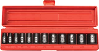 TEKTON 3/8-Inch Drive Shallow Impact Socket Set, Inch, Cr-V, 6-Point, 5/16-Inch - 1-Inch, 12-Sockets | 47910