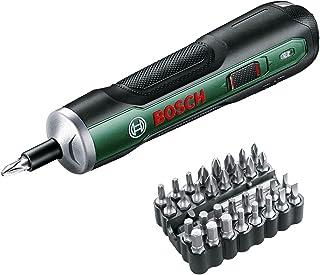 ボッシュ(BOSCH) 3.6Vコードレスドライバー 電動ドライバー 充電式 正逆転切替 トルク調整 家具の組み立て DIY ビット32本 充電用USBケーブル・ケース付 PUSHDRIVE