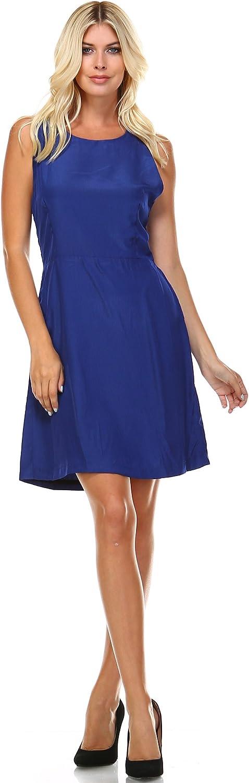 Marcelle Margaux Round Neck Sleeveless Dress