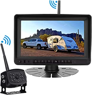 Rohent Digital Wireless Backup Camera High-Speed Observation System for Car/Pickup/RV/Truck/Trailer/Camper/5th Wheel with 7HD Monitor IP69K Waterproof Night Vision Continuous/Reverse Use