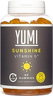 Vitamin D Sunshine Gummies x 60   1000IU Vitamin D3  Supports Immune System for Healthy Bones, Muscles and Teeth   Vegan-F...