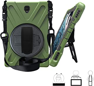 Galaxy Tab S4 10.5 Case,ZERMU Heavy Duty Three Layer Shockproof Rugged Hard PC+Silicone Armor Case with Built-in Stand+Hand Strap+Shoulder Strap for Samsung Galaxy Tab S4 10.5 Inch 2018 SM-T830 /T835
