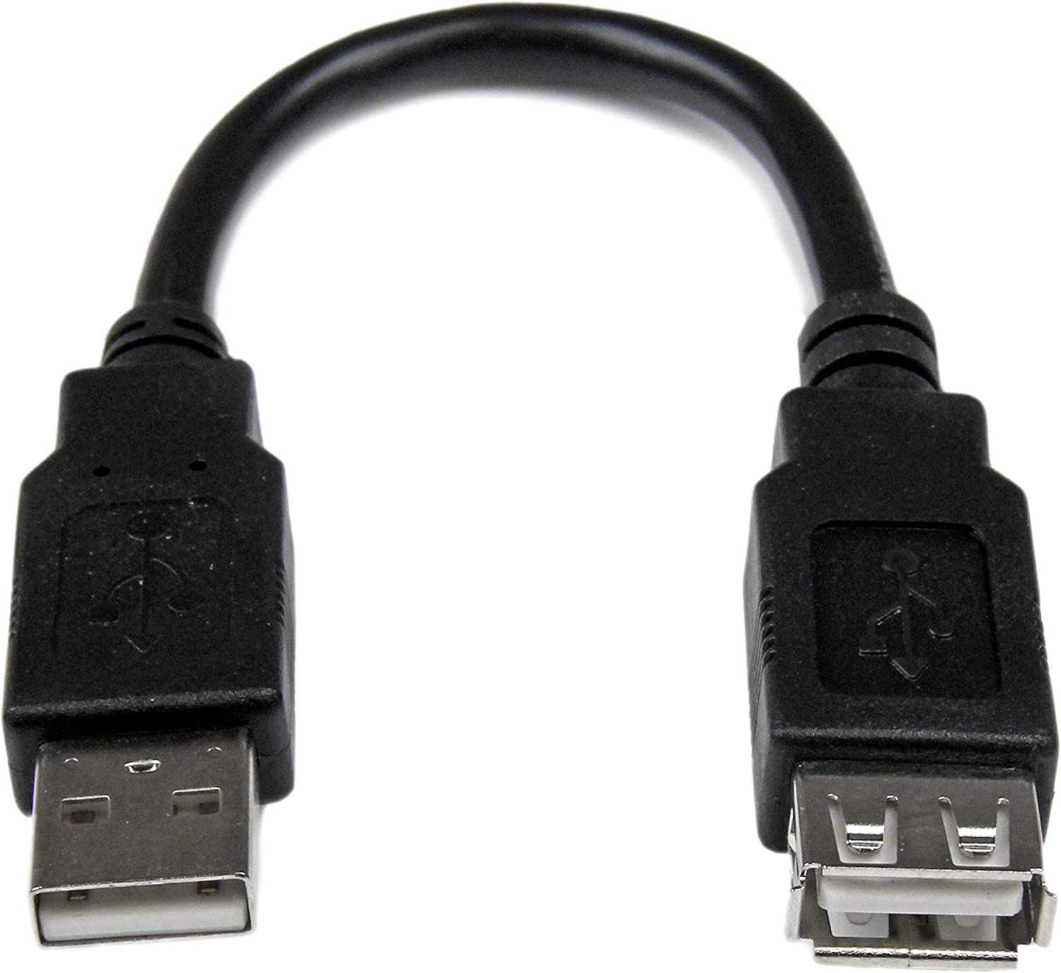 6in USB 2.0 Extension Adapter Cable A to A - M/F