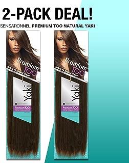 2-PACK DEALS! Human Hair Weave Sensationnel Premium Too Natural Yaki (12