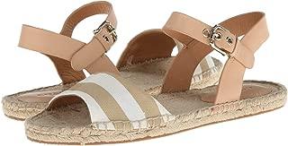 Reena Bleeker Cabana Espadrille Sandals Khaki-White