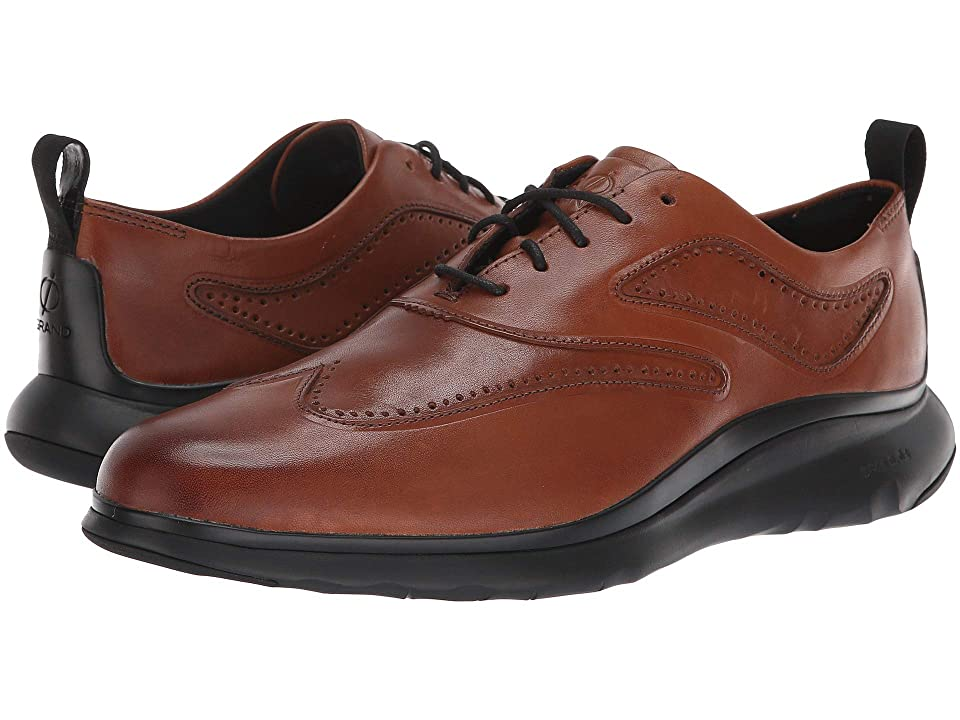 Cole Haan 3.Zerogrand Wingtip Oxford (British Tan Leather/Dark Roast/Black) Men