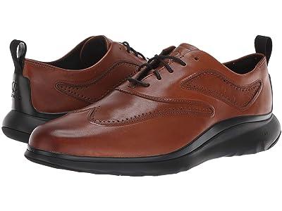 Cole Haan 3.Zerogrand Wingtip Oxford (British Tan Leather/Dark Roast/Black) Men