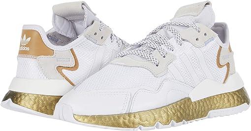 Footwear White/Periwinkle/Gold Metallic