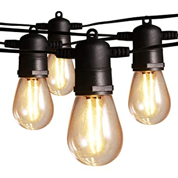 Amazon Com Ltteny Outdoor String Lights 48ft 15 3 Abs Plastic Bulbs Led String Lights Christmas String Lights Ip65 Waterproof Ul Listed Heavy Duty Holiday Decorative Cafe Patio Lights For Bistro Garden Home Improvement