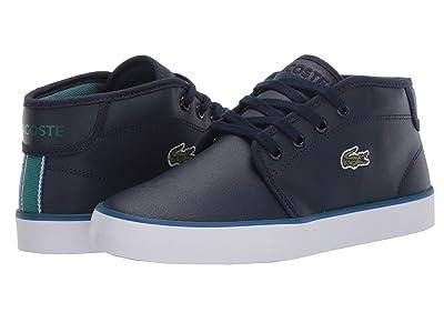 Lacoste Kids Ampthill 120 1 CUJ (Little Kid/Big Kid) (Navy/Green) Kid