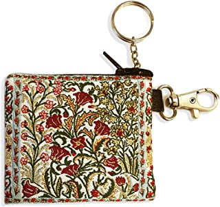 Religious Gifts Tulips Tapestry Key Chain Coin Change Rosary Case Pouch 3 1/16 Inch