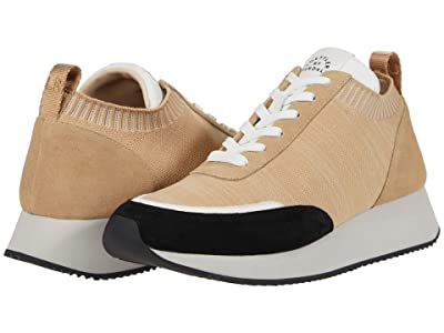 Loeffler Randall Remi Lace-Up Sneaker (Natural/Cement/Black) Women