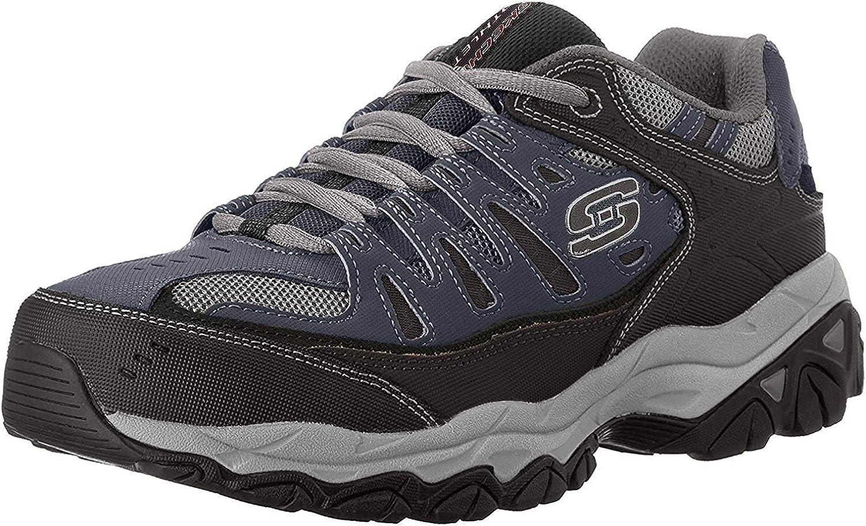 Skechers Men's Tucson Mall Afterburn Lace-up Sale price Sneaker Memory-Foam