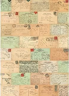 Cavallini & Co. Paris Postcards Decorative Decoupage Poster Wrapping Paper Sheet