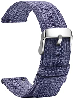 TStrap Cinturino Nylon 20mm Orologio - Nato Style Cinturini Orologio Nero - G10 Militare Balistico Bracciale Uomo Donna - Cinturino Smartwatch Fibbia in Acciaio - 18mm, 20mm, 22mm