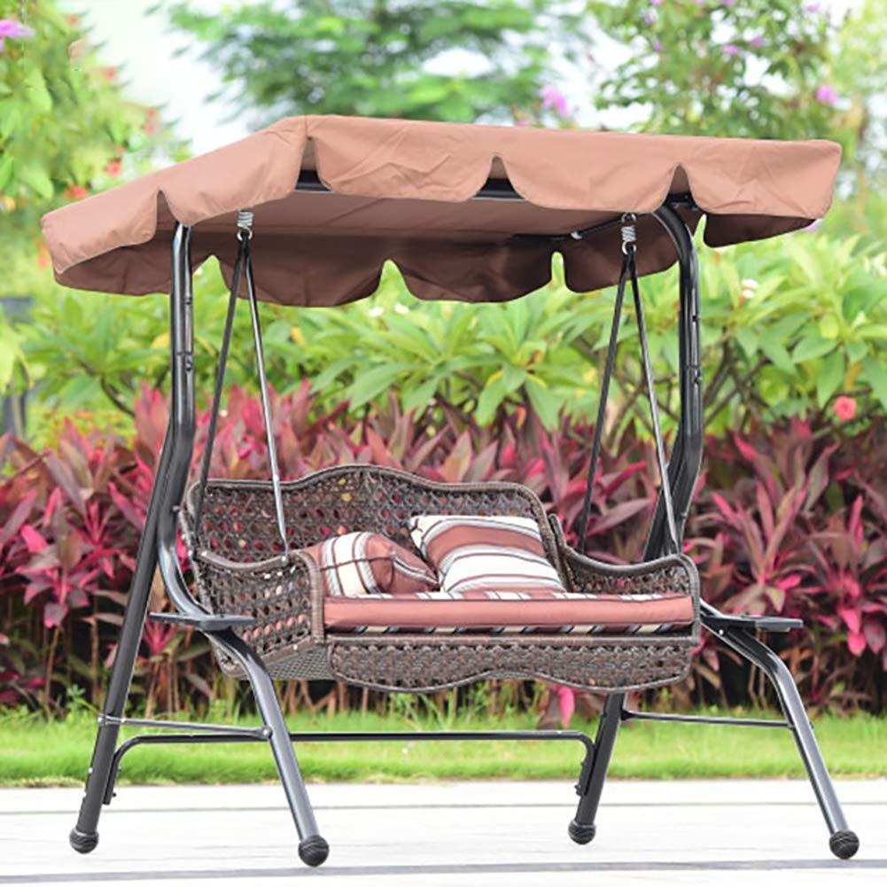 ZDYLM-Y Columpio Balancín Jardín 2 Sentado oscilación Protector Solar con Dosel, Metal Resistente Hamaca con la Bandeja, para al Aire Libre Terraza: Amazon.es: Deportes y aire libre
