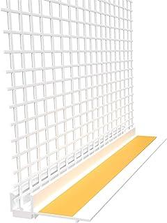 15 x pleisterlijst 9 mm met beschermende lip en met legeringsweefsel en 2,1 m (31,5 m) Apu-profiel raamstrip gips profiel ...