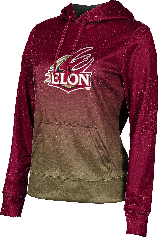 ProSphere Elon University Girls' Pullover Hoodie, School Spirit Sweatshirt (Ombre)