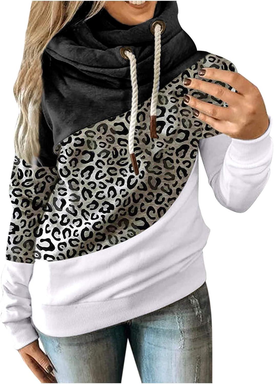 Hotkey Hoodies for Women Long service Cowl Sweatshirt Hooded Sleeve Super sale Neck