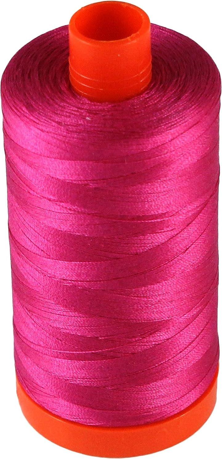 Aurifil Cotton Mako 50wt Fuchsia Thread Large Spool 1421 yard MK50 4020
