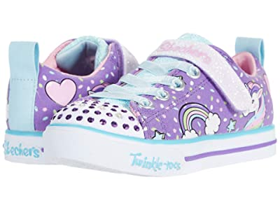 SKECHERS KIDS Twinkle Toes Sparkle Lite 10988L Lights (Little Kid/Big Kid) (Purple/Multi) Girl