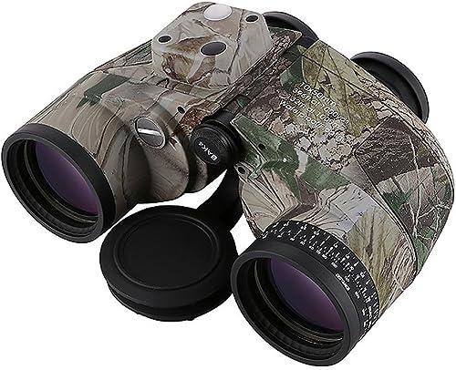 ALHM-F Jumelles 10x50 Miroir de Navigation portatif Haute définition avec Compas Miroir de Vision en Plein air étanche pour Vision Nocturne étendue