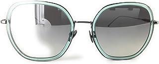 Daniel Hechter DHS186-6 Lunettes de soleil, Turquoise Transparent, Gris Brillant, 56-20-145 Femme