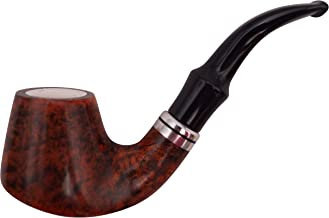 GERMANUS tabakspijp - Made in Italy - pijp Bent met zeepschuim inzet en fluitzak, 9 mm filter, nr. 14