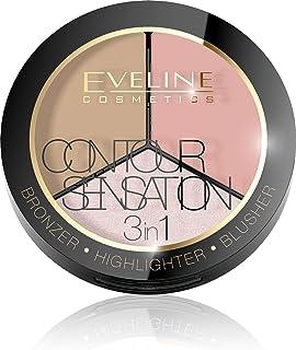 ايفلين كونتور سينسيشن 1X3 ( برونزر + بلاشر + هايلايتر) رقم 01 اللون بينك