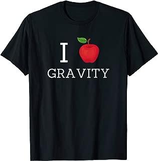 I Love Gravity Funny Issac Newton Apple T-Shirt
