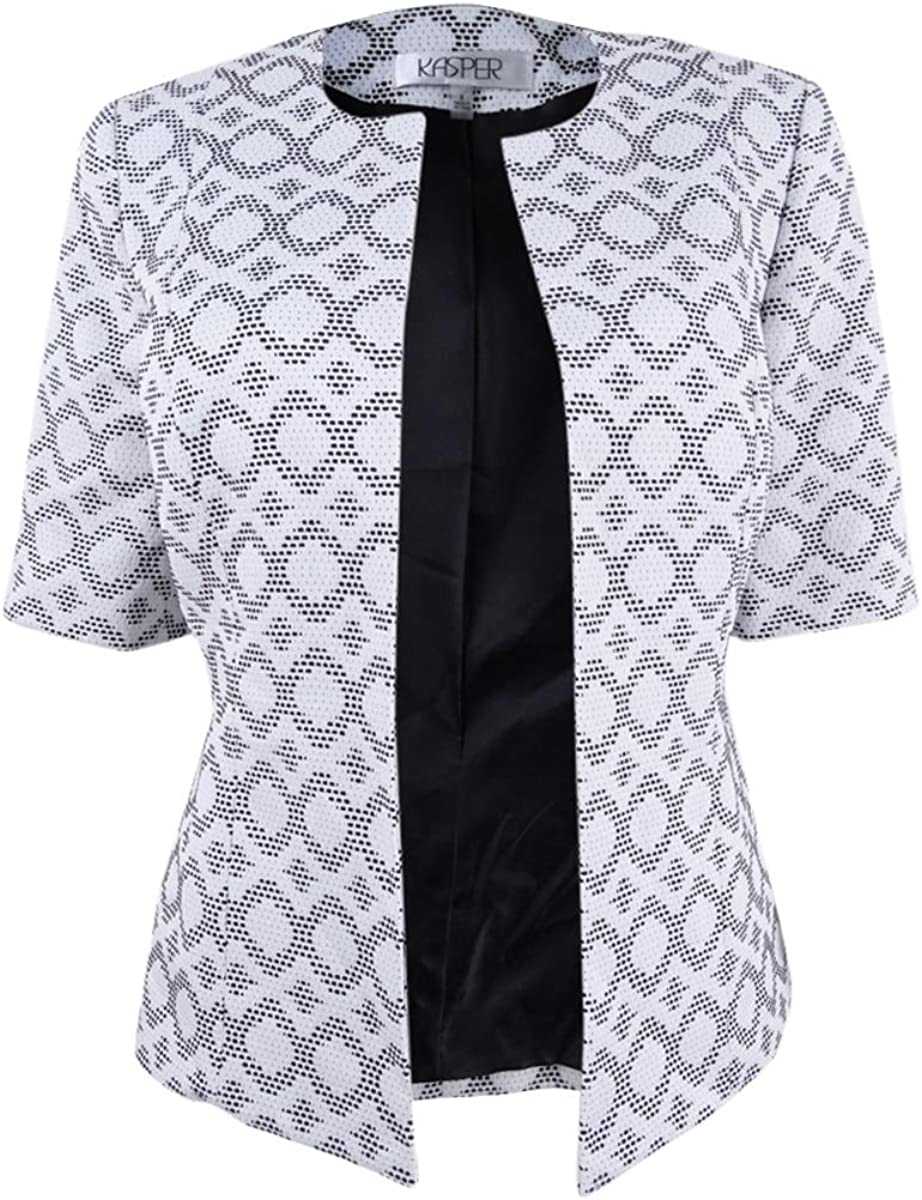 Don't miss the campaign Kasper Women's Abstract Fixed price for sale Jacket Jacquard