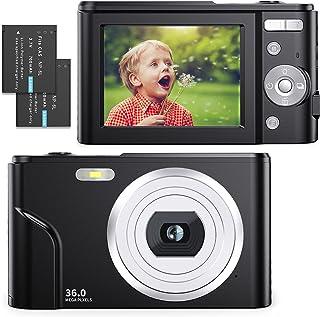 Digitalkamera 1080P Full HD Kompaktkamera 36 MP Vlogging-Kamera mit 16X Digitalzoom, FamBrow Fotokamera 2,4
