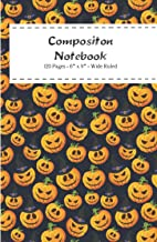 Composition Spooky Notebook:: Halloween Lined Ruled, 120 pages - Classic Journal Notebook for Home Work Office Business Id...