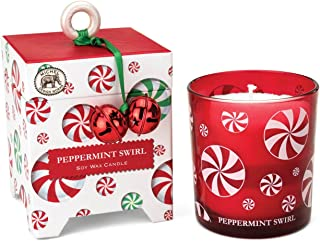 Michel Design Works Gift Boxed Soy Wax Candle, 6.5-Ounce, Peppermint Swirl