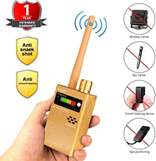 Eilimy Anti-Spy Wireless RF Signal Detector Set [2019 Latest Upgrade] Bug GPS Camera Signal Detector,for Hidden Camera GSM Listening Device GPS Radar Radio Scanner Wireless Signal Device Finder