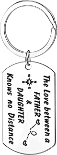 The Love Between a Father And Daughter Knows No Distance Keychain