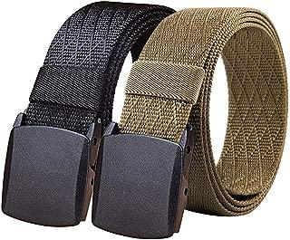 Fairwin Nylon Web Belts, Ratchet Belt/No Holes Full Adjustable Web Belt for Men, Women and Boys