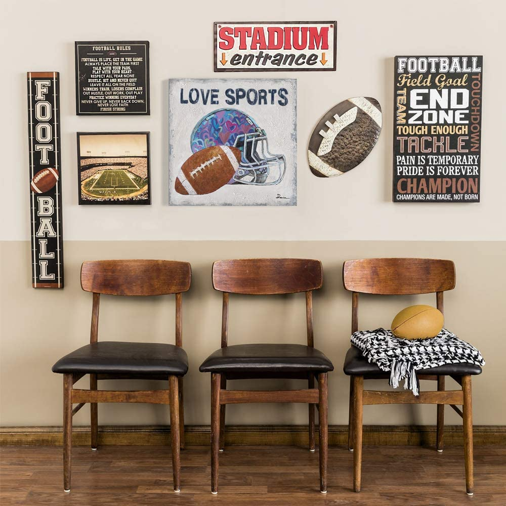 B BLINGBLING Football 販売期間 限定のお得なタイムセール Sports Themed Bedroom スピード対応 全国送料無料 for Boys Wall Decor