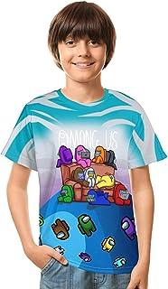 تي شيرت برسومات ثلاثية الأبعاد للأطفال والأولاد والبنات أزياء مضحكة لعبة Cosplay قصيرة الأكمام تي شيرت للشباب والمراهقين
