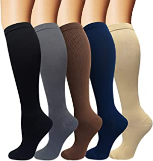 3/5 Pairs Compression Socks Women & Men – Best Medical,Nursing,Hiking,Travel..