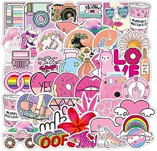 Pink Sticker for Water Bottle Laptop 50pcs