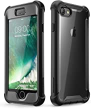 i-Blason Ares Clear Case for iPhone 8 Case/iPhone 7, [Built-in Screen Protector] Full-Body Rugged Clear Bumper Case for Apple iPhone 8 / Apple iPhone 7 (Black)