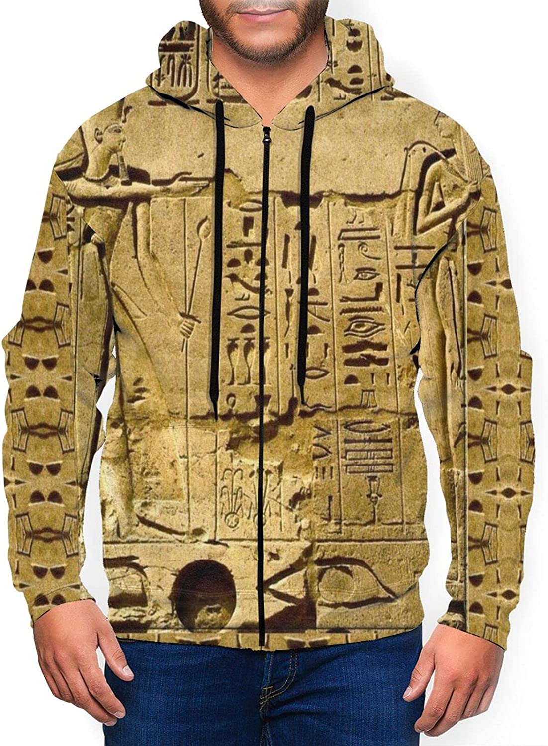 Newwo Egyptian Drawing Mens Full-Zip Ranking TOP13 wi Sweatshirt Jacket Courier shipping free shipping Hooded