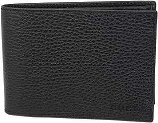 Gucci Men's Black Leather Bi-fold Wallet 292534 Emboxxed Logos