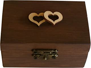 Braune Farbe Ring Bearer Box Hochzeit Verlobungsring Box Ehering Box Bearer Ring Box Rustikale Hochzeit Ringkissen Ringkissen Rolle In Burlap